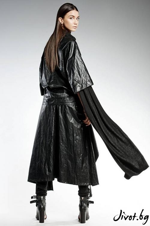 Черна туника от еко кожа / PENDARI
