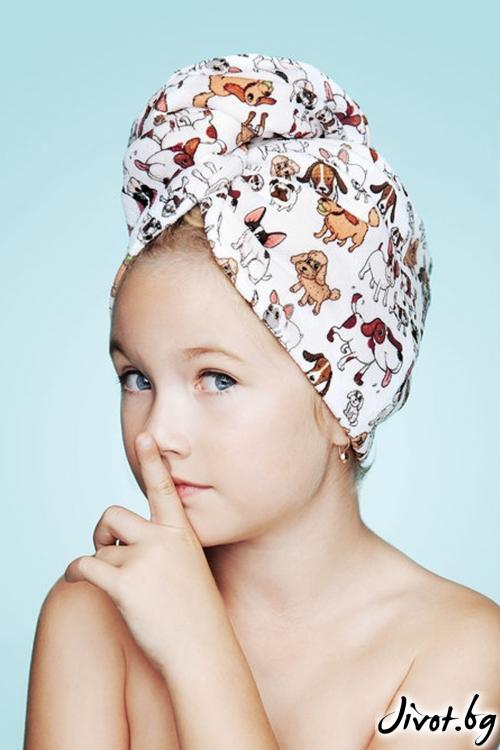 Хавлиена детска кърпа за коса AMICI / AGLIQUE