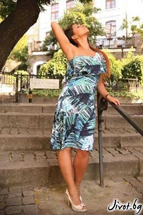 Асиметрична рокля с едно рамо / ALENIA
