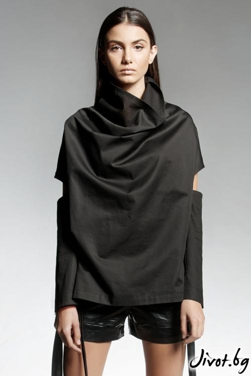 Черна дамска блуза ELDARION / PENDARI
