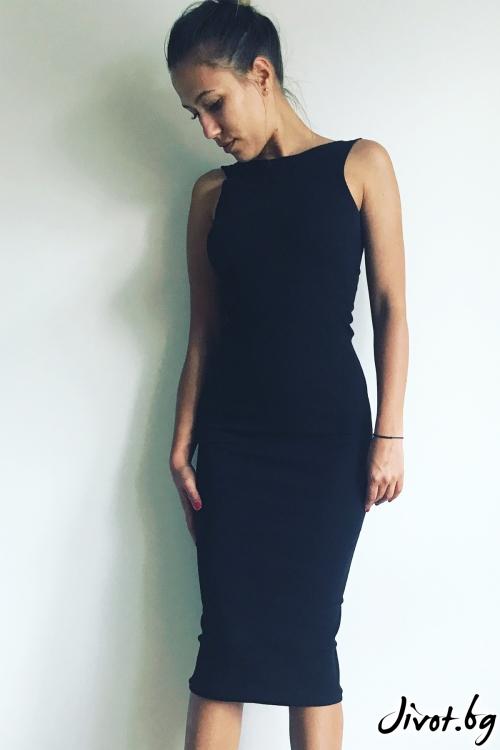 Черна рокля с дълги ръкави / VESTITI