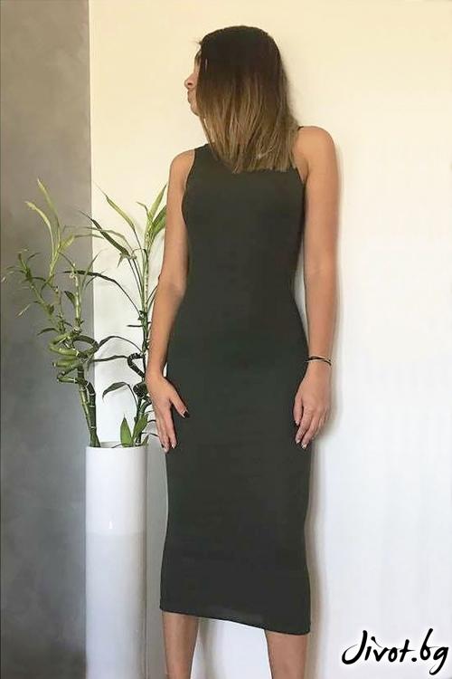 Зелена рокля с гол гръб / VESTITI