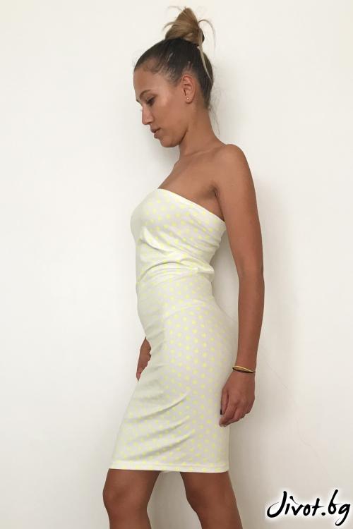 Бяла рокля тип бюстие / VESTITI