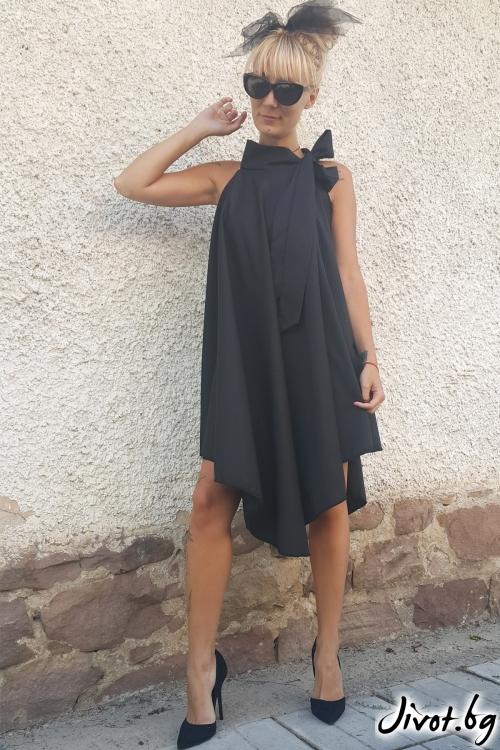 Уникална черна дамска рокля / Jeni&Migla