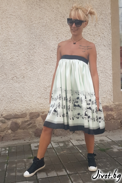 Уникална дамска рокля/пола / Jeni&Migla
