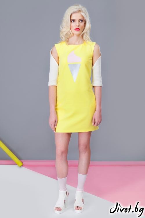 """Лимонено жълта рокля """"Ice cream"""" / Jar & Jam"""