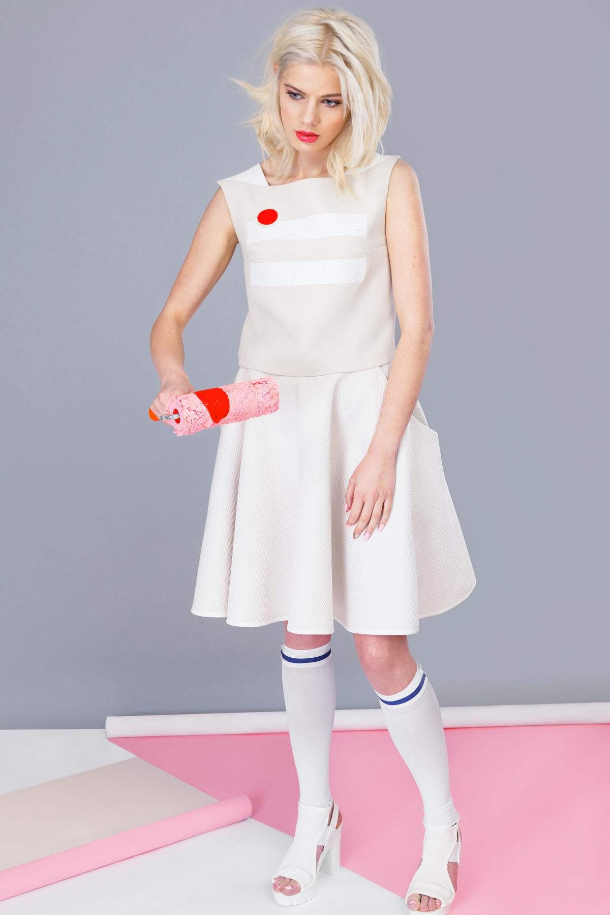"Красива пола "" Cream with cherry flared skirt"" / Jar & Jam"