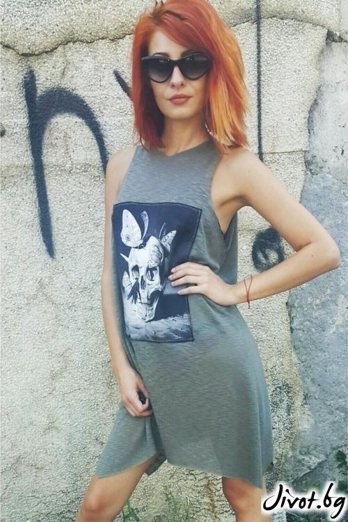 Привлекателна дамска рокля с принт / Jeni&Migla