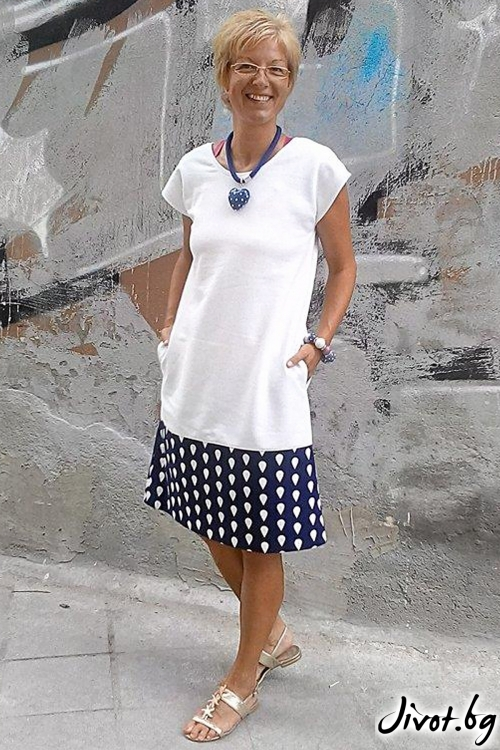Бяла рокля трико / Роклите на Нора