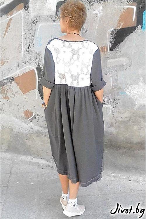 Тъмносива рокля от лен / Роклите на Нора
