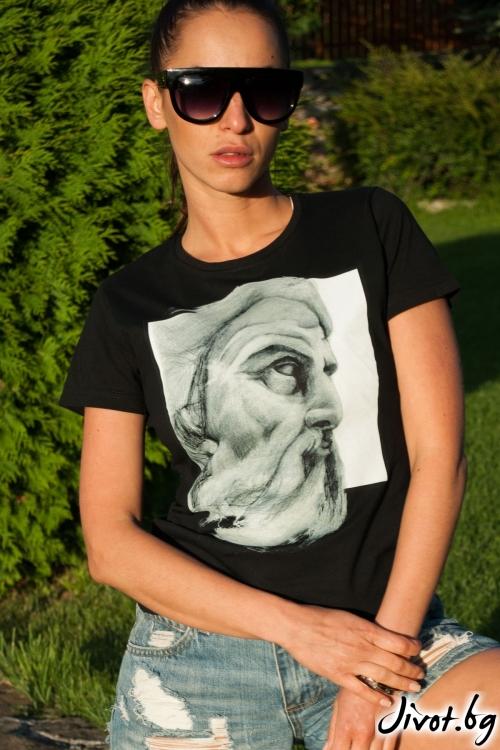 """Дамска тениска с къс ръкав """"Zeus"""" / EGO Te Provoco"""