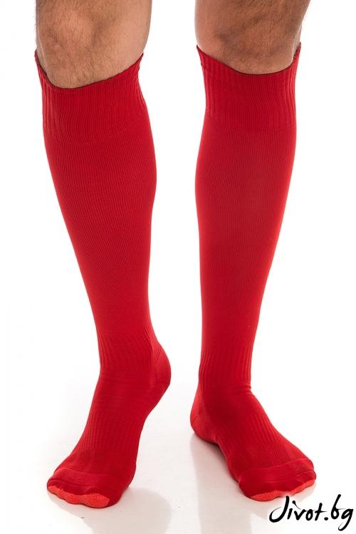 Червени мъжки чорапи FootBall Red / Krak me