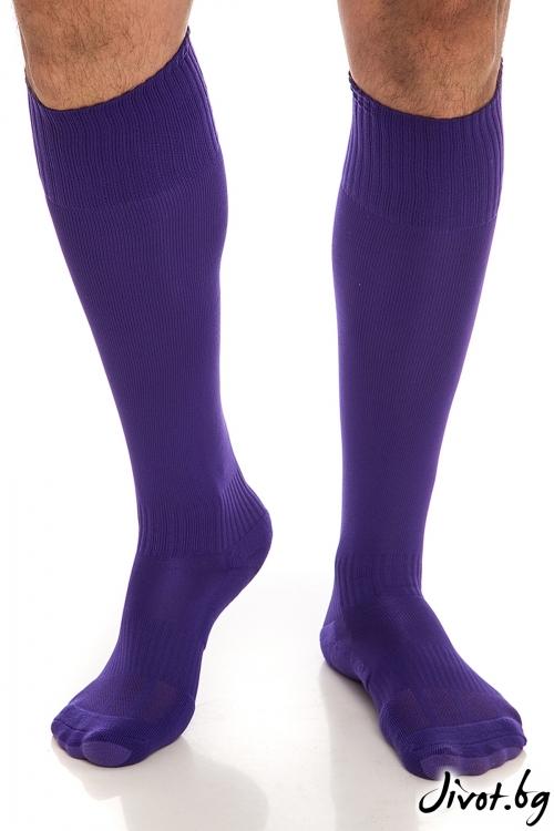 Дълги мъжки чорапи FootBall Purple / Krak me