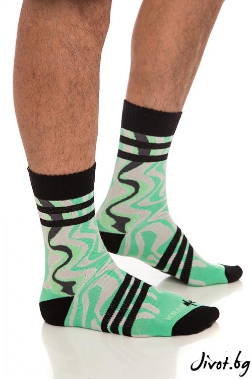 Мъжки зелени чорапи / Krak me