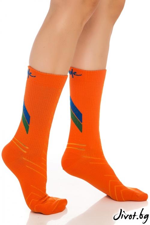 Дамски оранжеви чорапи ALL ACTIVE / Krak me