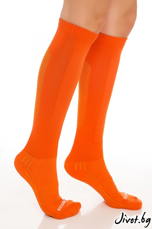 Дамски оранжеви чорапи до коляното / Krak me