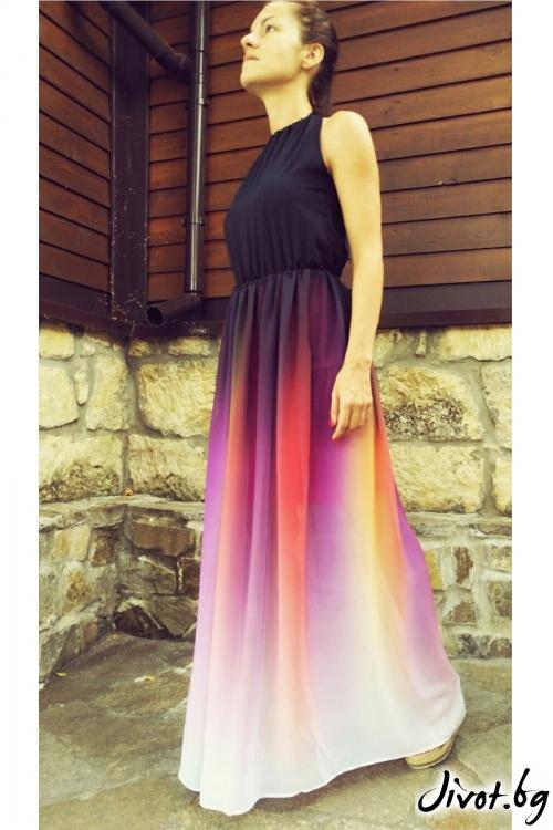 Дамска дълга рокля без ръкави / GITANA