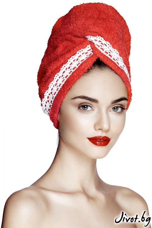 Червена кърпа за коса AGLIQUE GRACE RED