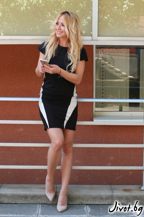 Ефектна черна рокля / LENA