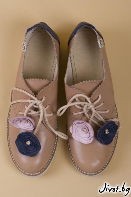 Ръчно декорирани обувки Simplicity Blue / PESH ART