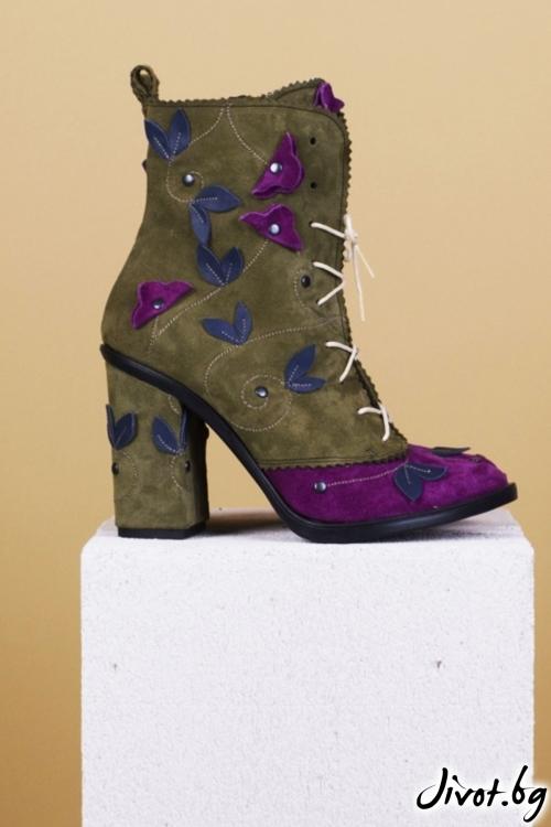 Дамски обувки на ток Green Forest / PESH ART