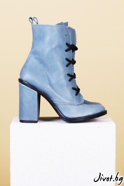 Дамски кожени обувки на ток Mint Babe / PESH ART