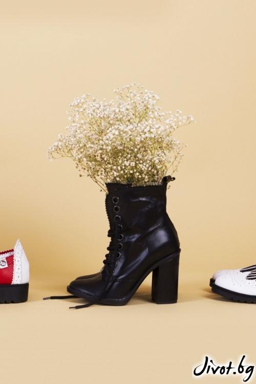 Дамски кожени обувки на ток Carisma Babe / PESH ART