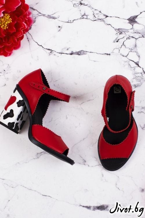 Дамски кожени обувки на ток Moo. Summer / PESH ART
