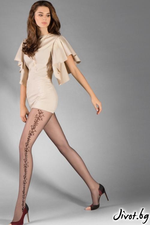 Фигурален чорапогащник със странична декорация Janet / 383