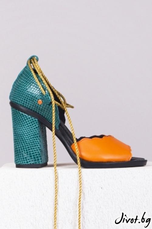 Цветни кожени обувки Fancy Babe / PESH ART