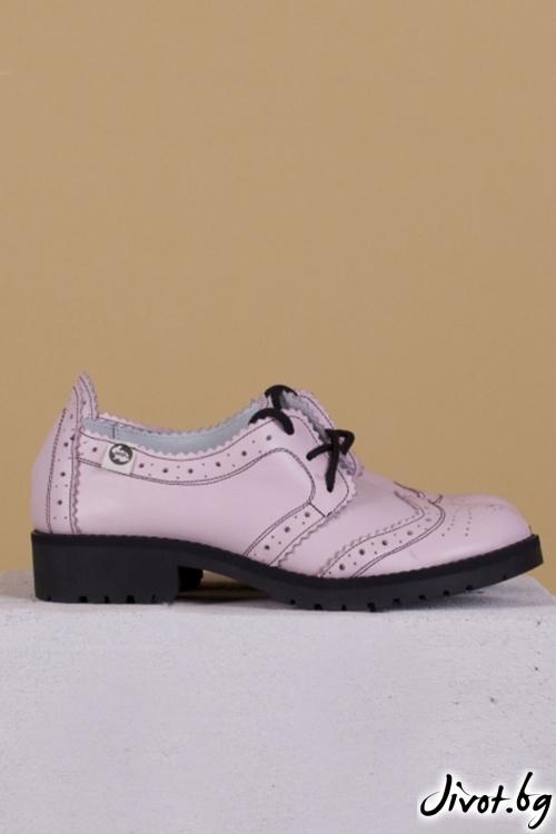 Розови дамски обувки класически стил Mono Pink / PESH ART