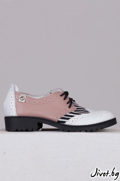 Кожени черни обувки с декорация Pinko / PESH ART