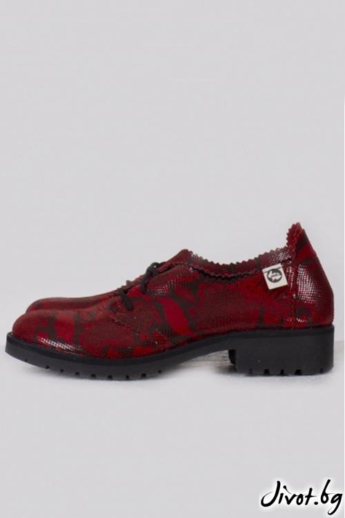 Класически червени дамски обувки Scarlet / PESH ART