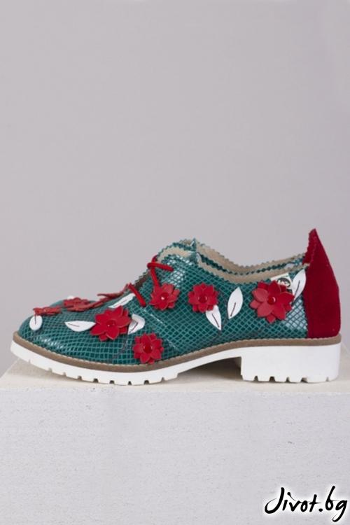 Нежни кожени обувки Counterpoint / PESH ART