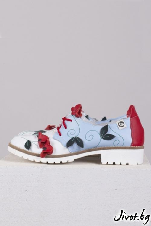 Ръчно декорирани кожени обувки Tenderness / PESH ART