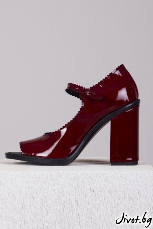 Кожени обувки на ток Dorothy / PESH ART