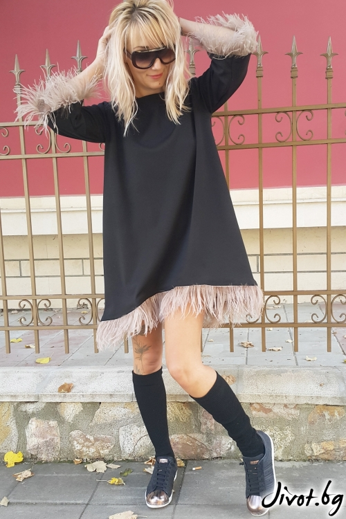 Черна рокля с пера / Jeni&Migla