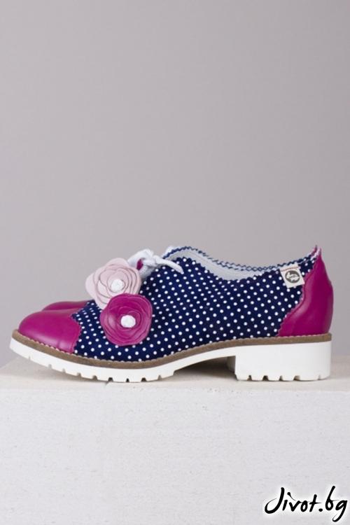Ръчно декорирани обувки Marine Summer Flower / PESH ART