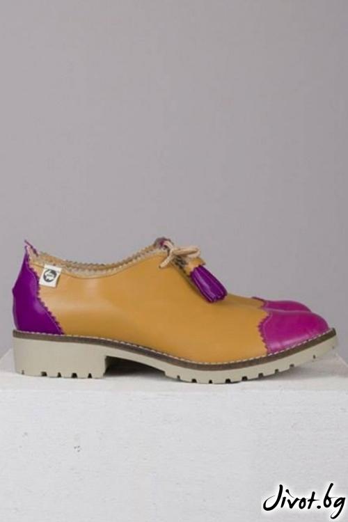 Кожени дамски обувки Camel Summer / PESH ART