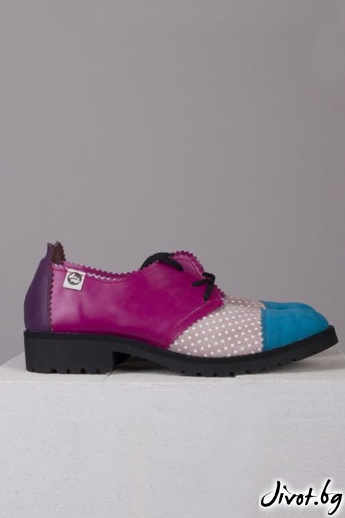 Многоцветни обувки Pink Chameleon / PESH ART
