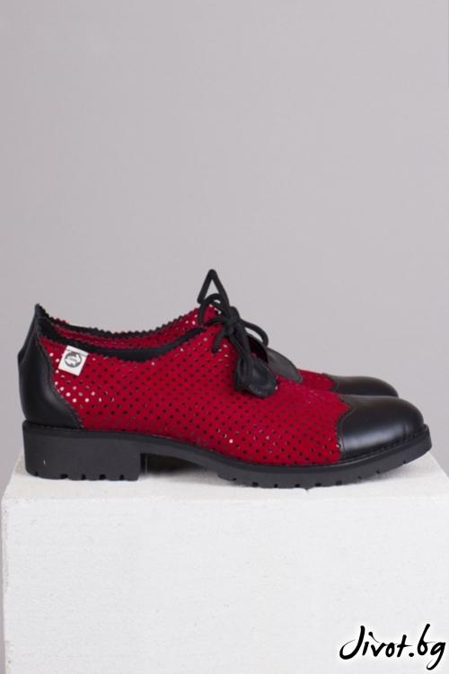 Дамски обувки от естествен велур Ladybird / PESH ART