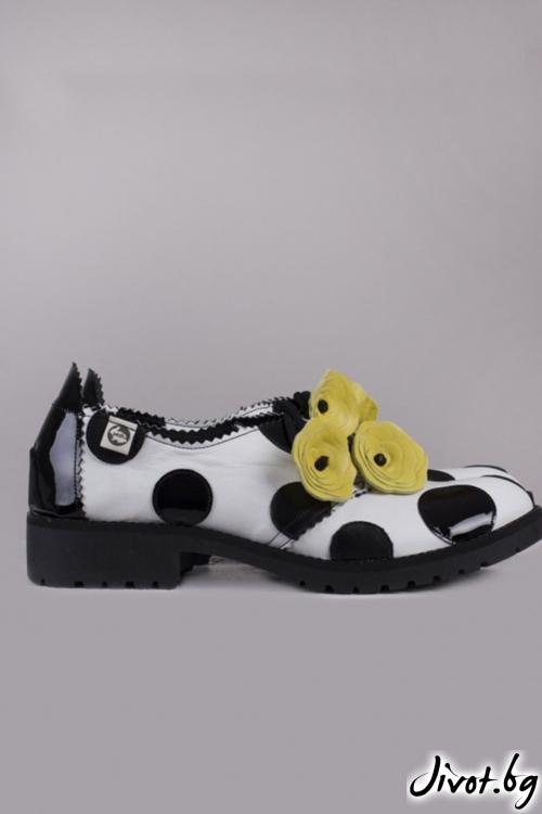Kласически дамски обувки Flamenco Yellow / PESH ART