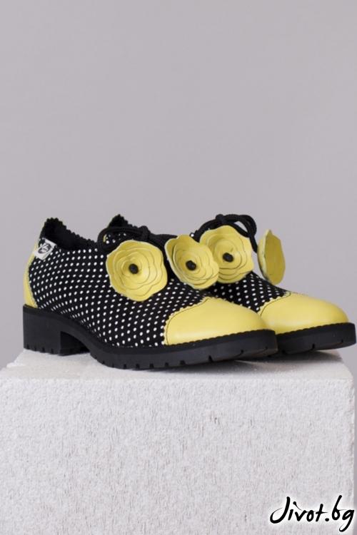 Kласически дамски обувки Summer Flower / PESH ART
