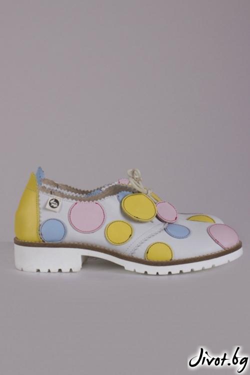 Дамски кожени обувки Dotty / PESH ART