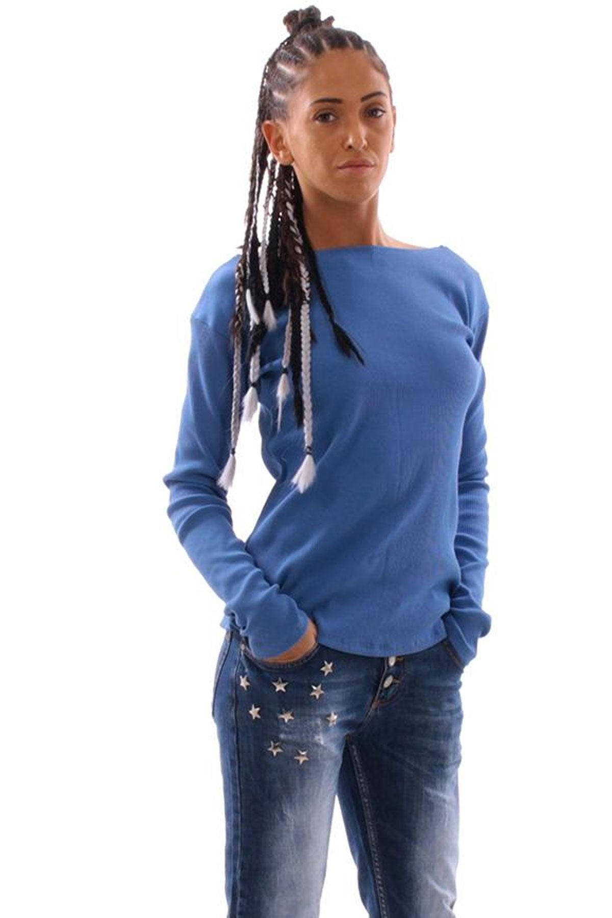 Дамска блуза от памучен рипс с връзки / Cherry You