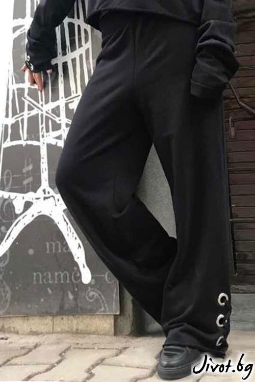 Красив черен дамски панталон / Cherry You