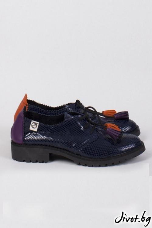 Кожени обувки класически стил Midnight / PESH ART