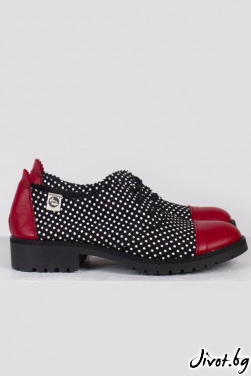 Класически дамски обувки от естествена кожа и велур 1960 / PESH ART