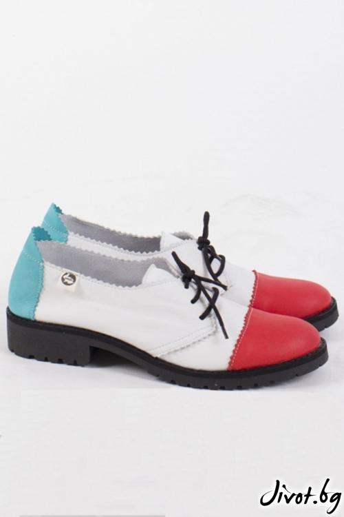 Многоцветни кожени обувки Crush / PESH ART