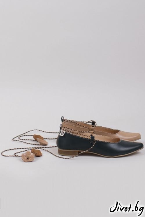 Дамски кожени обувки Natura / PESH ART